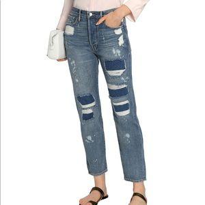Frame Denim Le Boy Distressed Jeans